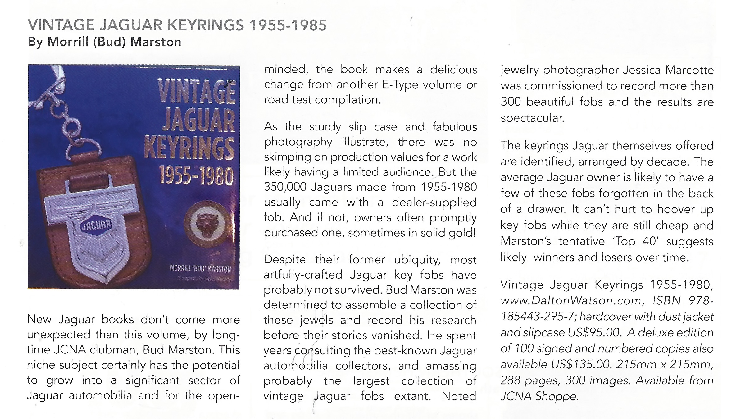 Jaguar Journal review of Vintage Jaguar Keyrings