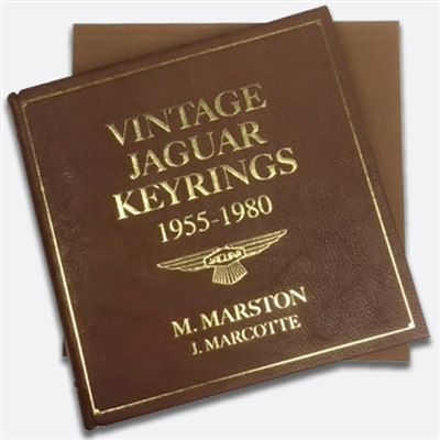 Vintage Jaguar Keyrings 1955 1980 Leatherbound Edition By Morrill Bud Marston